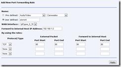add new portforwarding rule bsnl modem