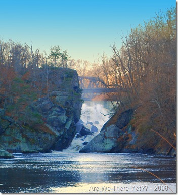 The Lower Falls from downriver