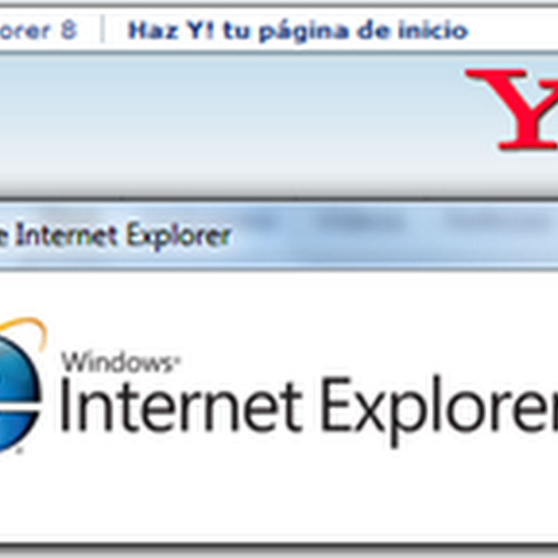 Yahoo te recomienda IE8 navegando en IE8