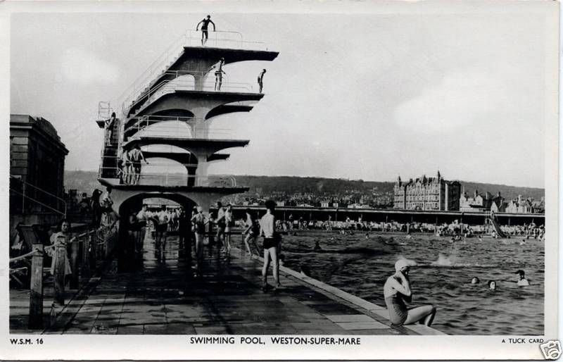 Vintage postcard blog weston super mare england 1930 39 s Hotels weston super mare with swimming pool