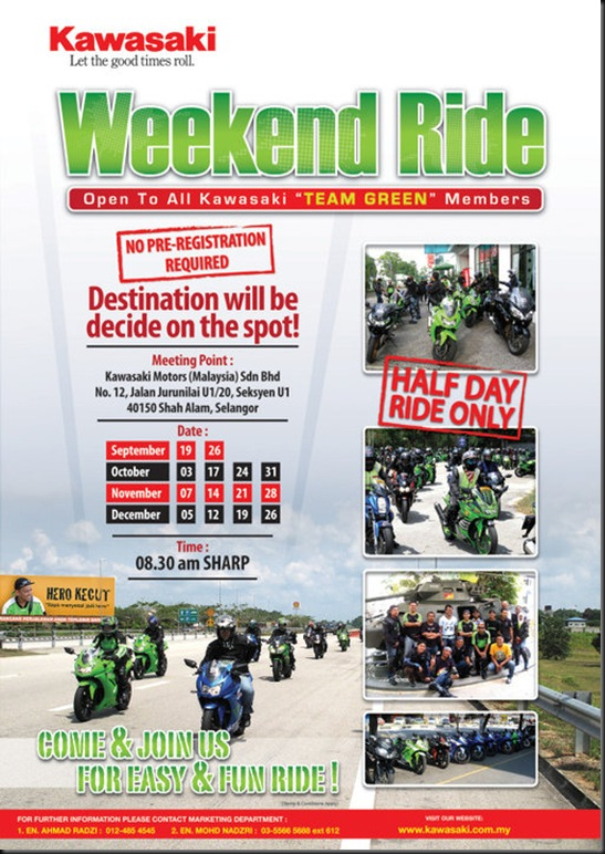 kawa weekend ride