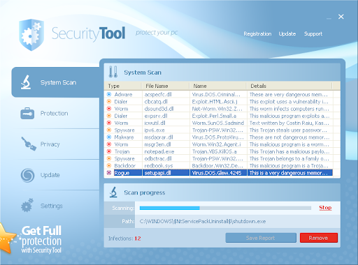 لبرنامج Security المزعج