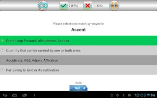 Screenshot of sTutor - GRE Vocab Lite