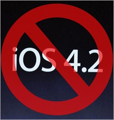 No to iOS4.2