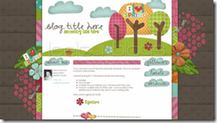 Leelou Blogs Premade blog layout_I heart spring