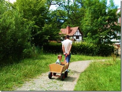 Aj nel carretto al Tierpark di sababurg