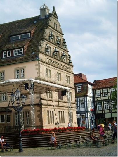 Hochzeitshaus ad Hameln. lato del Carillon