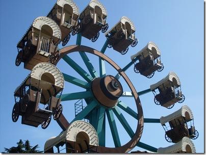 La ruota dei pinonieri a minitalia leolandia Park