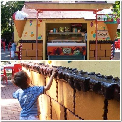 La casetta dei gelati a Minitalia