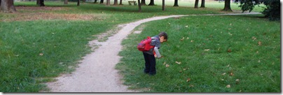 Aj raccoglie tesori nel parco