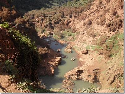 La vista sul canyon di oued el Abid