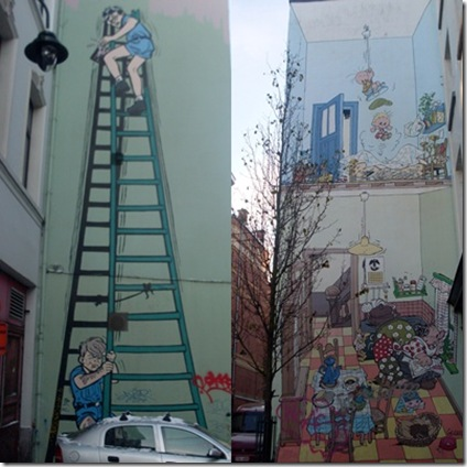 Murales a Marolles lungo il percorso BD a Bruxelles