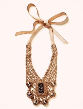 Crochet necklace banana republic