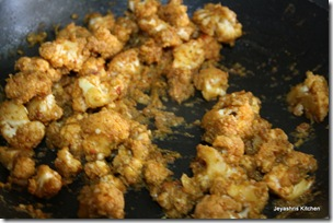Masala mixwd with cauliflower