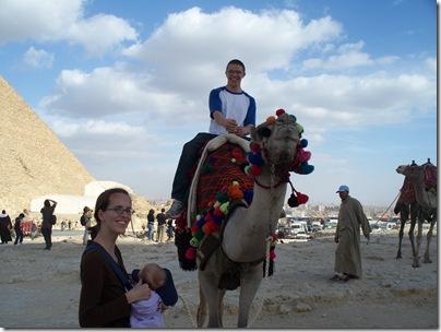 12-29-2009 059 Giza Pyramids - Jacob & camel
