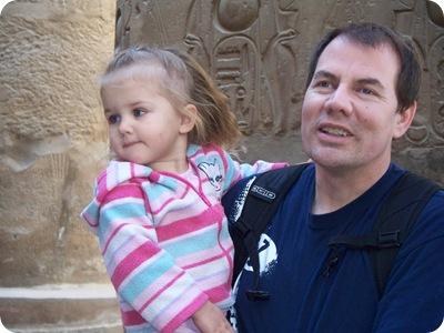 12-19-2009 022 Rachel & Grandpa, Luxor temple