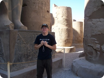12-19-2009 023 Jacob at Luxor temple