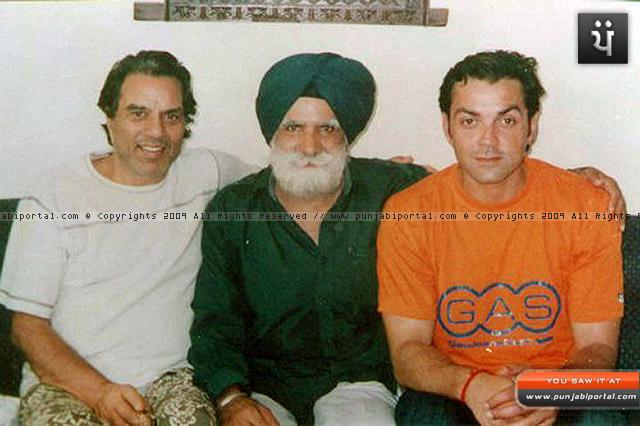 master sarjit sanehwal, dharmendra and bobby deol