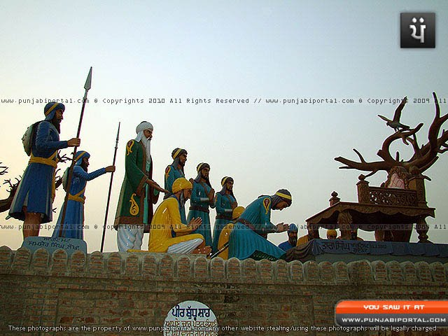 Peer Budhu Shah presenting his 4 sons for the war of Bhangni.
