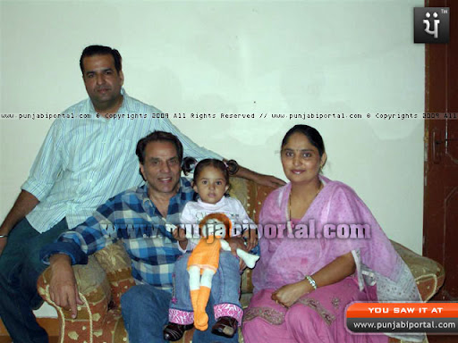 Dharminder Deol with the Author's son Ajay Sandhu and his wife Lakhwir Kaur and daughter Parneet