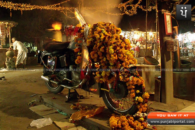 Om Banna Royal Enfield Bullet 350 temple shrine rajasthan bullet baaba