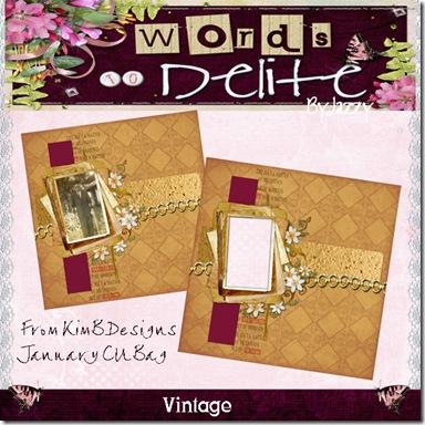 Vintage Freebie Preview