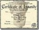 insane certificate