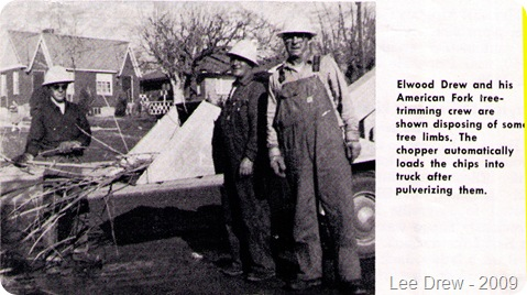 Drew Elwood tree crew 1960