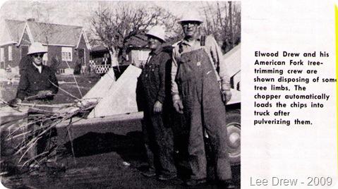 Drew Elwood tree crew 1960