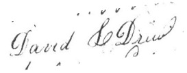 David L Drew signature