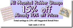 Rubber Stamps Sale