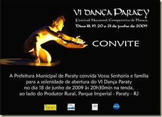 Convite Dan�a Paraty 2009