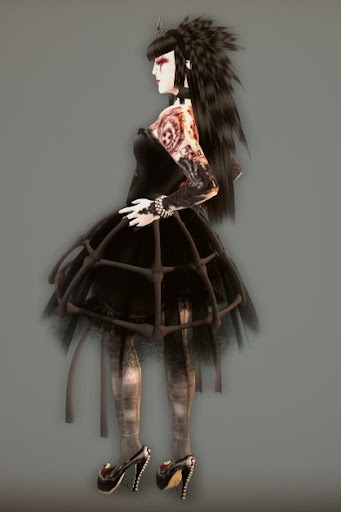 necromantic dress (tiara too) by violent seduction