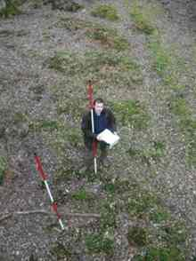 Tom Dommett ground truthing in the Forest