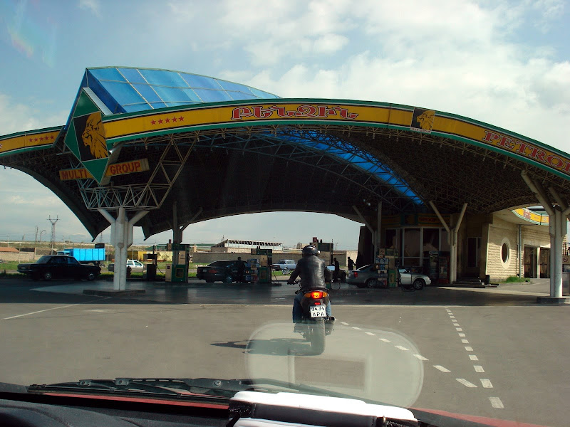 The Abovyan Petrol Station is where most north-directed rides kick off