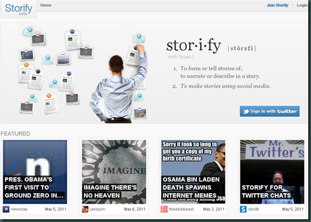 Create stories using social media - storify