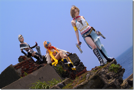 final fantasy x-2 cosplay - paine, rikku, and yuna / yuripa