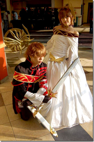 tsubasa - reservoir chronicle cosplay - syaoran and sakura