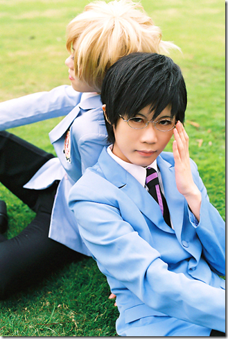 ouran high school host club cosplay - suou tamaki and ootori kyouya 02 by dees of deviantart