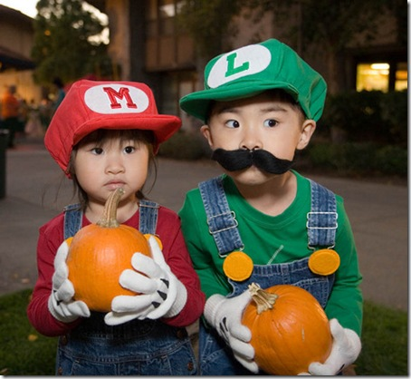 mario bros. kids cosplay - mario and luigi