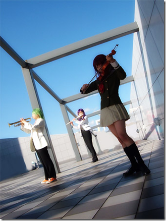 la corda d'oro cosplay - hino kahoku, hihara kazuki, and yunoki azuma