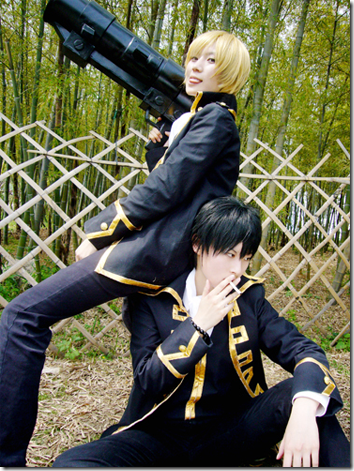 gintama cosplay - okita sogo and hijikata toshiro