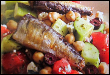 greek salad with sardine