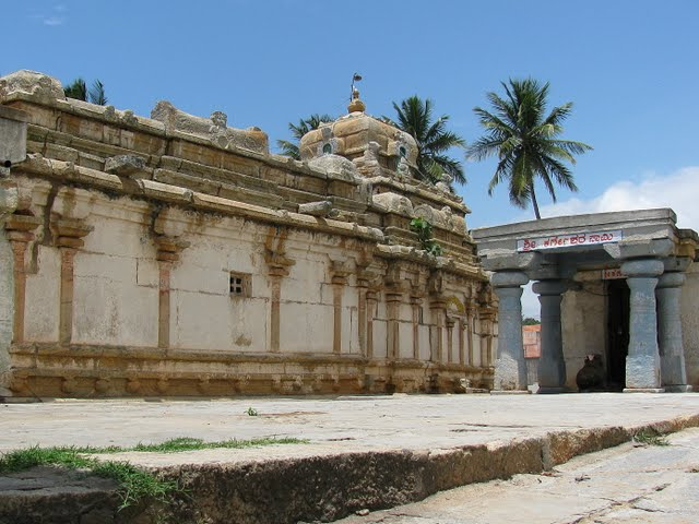 A view of the side of the temple