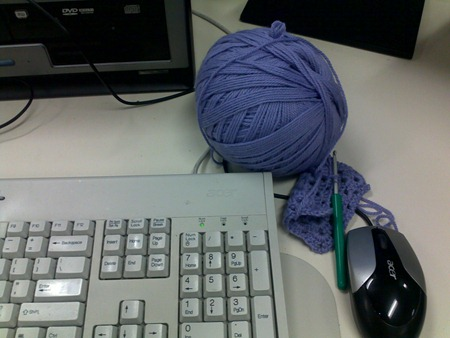 crochet at work