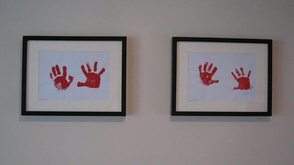 hand prints on my wall