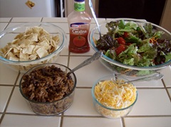 Taco Salad recipe and tips for keeping the salad from wilting and going to waste