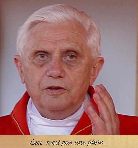 Ceci n'est pas une pape.