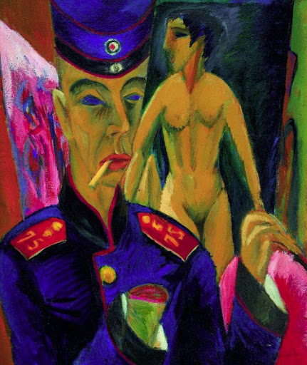 Kirchner, Ernest Ludwig. Self-Portrait as a Soldier. c. 1915.
