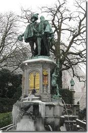 Egmont si Hoorn , decapitati in 1568, Parcul Egmont